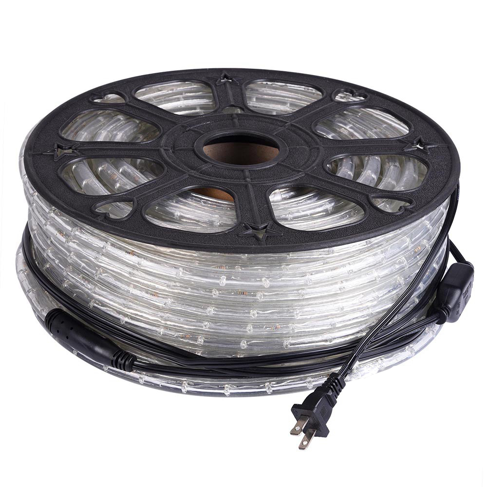 165ft Yellow, Dimmable, 110-120V AC Flexible LED  ½ Inch Rope Light, Indoor/Outdoor Use,