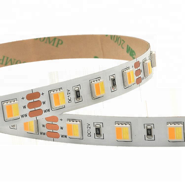 CCT Adjustable 60Leds/M 2in1 5050 Led strip light