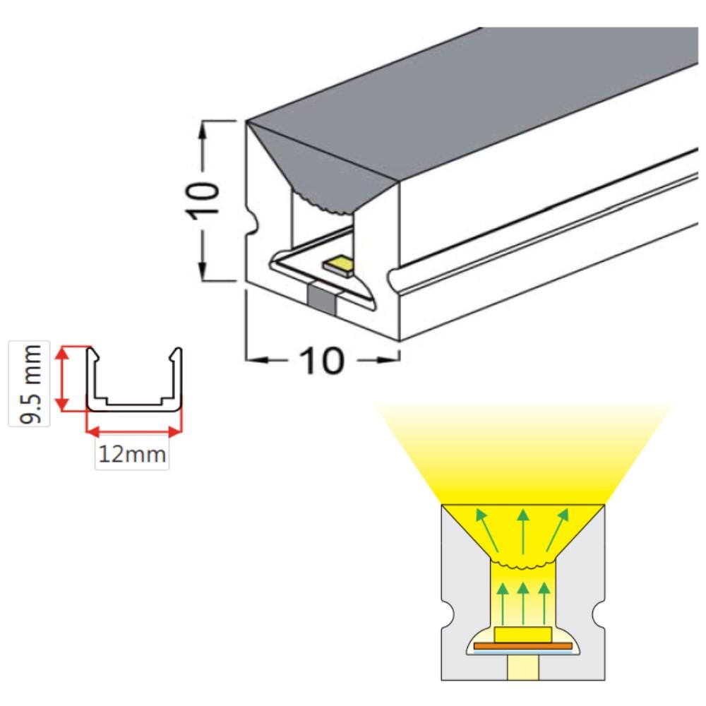 10*10mm Top View Lighting Neon Strip