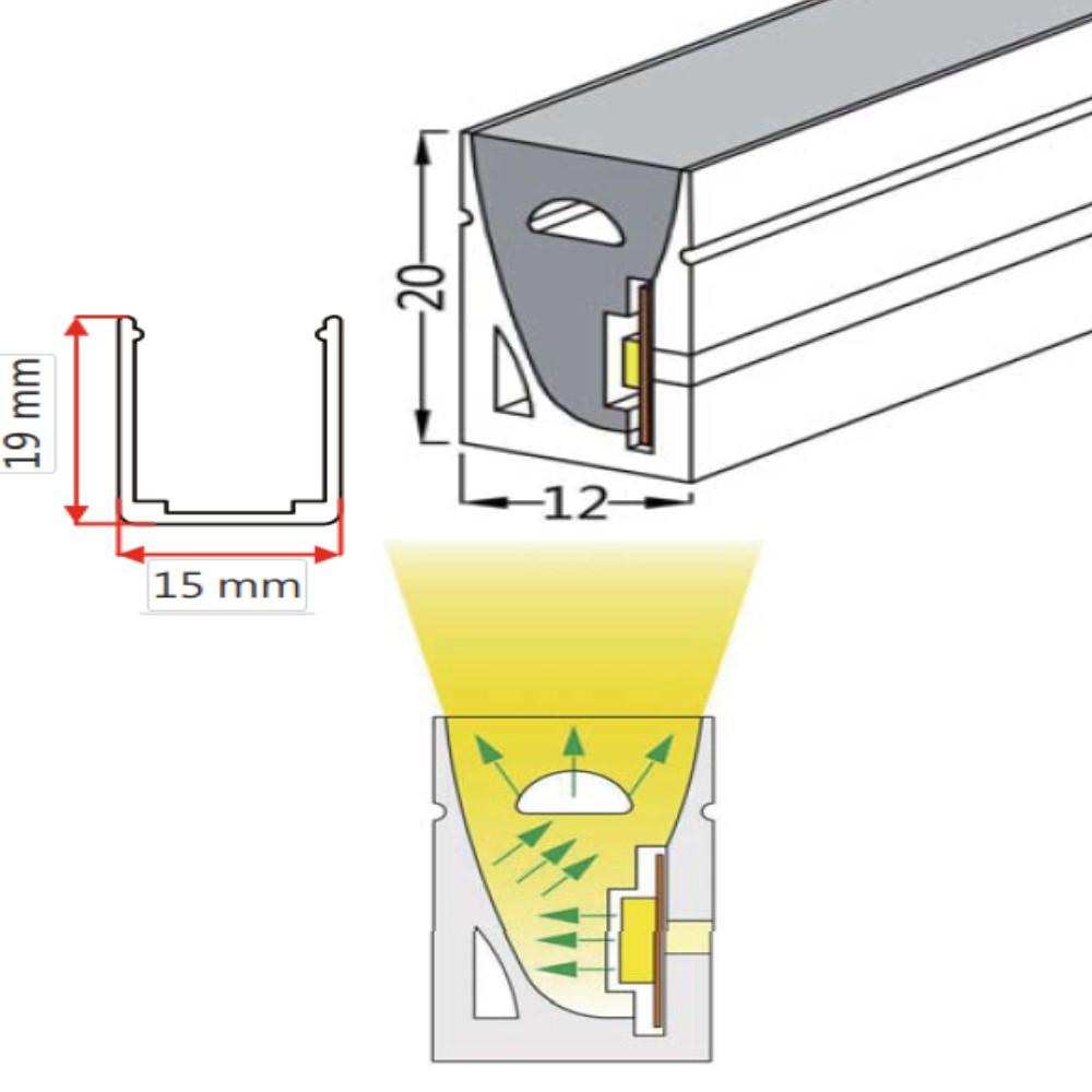 12*20mm Top View Lighting Neon Strip