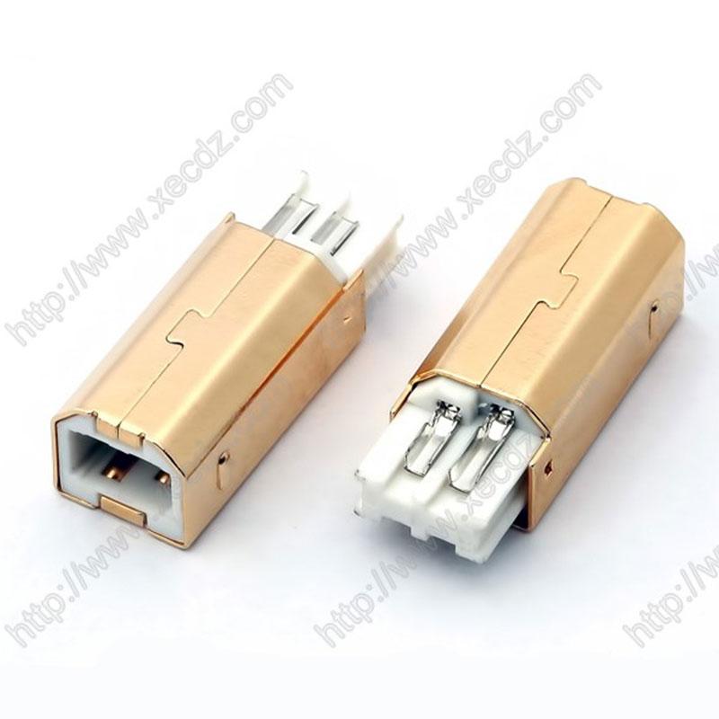 USB-B公短体焊线