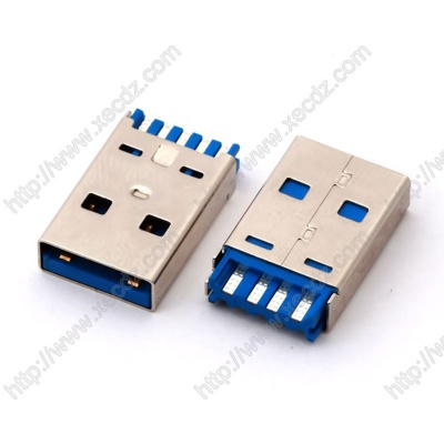 USB3.0-AM短体焊线