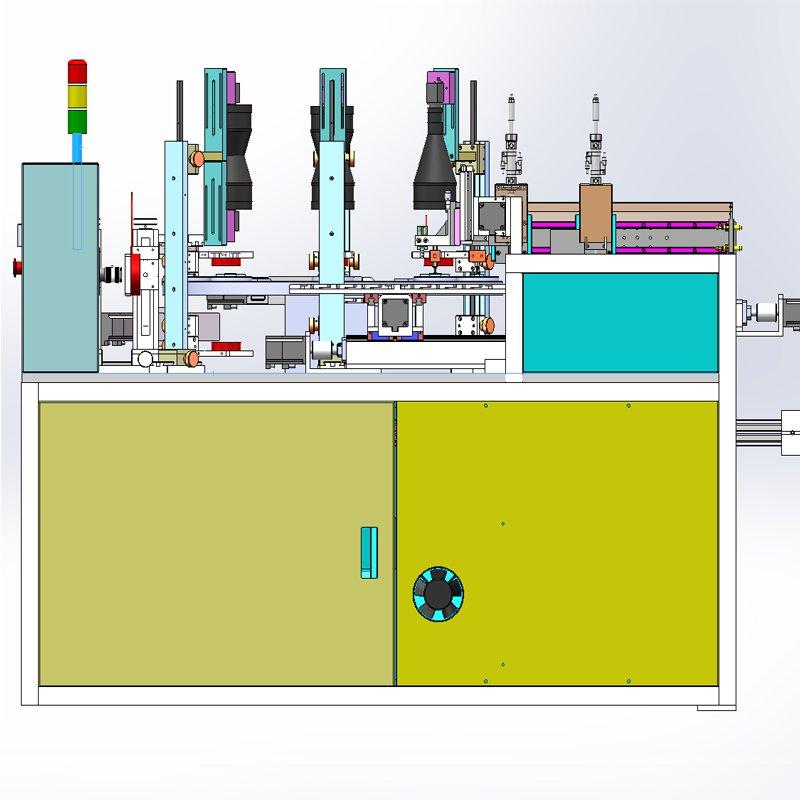 旋转四工位CCD视觉缺陷检测机台