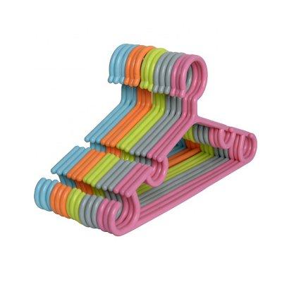 Small hanger plastic for kids eco-friendly children non-slip material plastic child coat hanger
