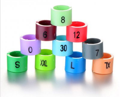Size markers plastic with different colors