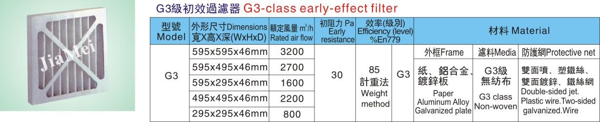 G3 级初效过滤器