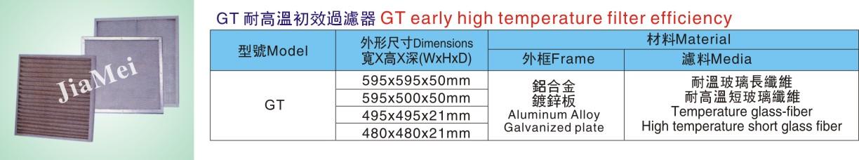 GT 耐高温初效过滤器