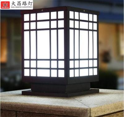 中式柱頭燈