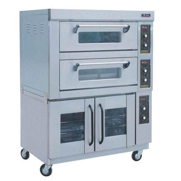 双层电焗炉带发酵柜
