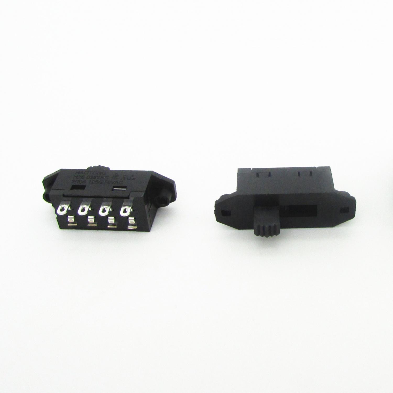 皓通haoswitch直销有耳单极3位3档4孔脚H25-0313SC档位切换拨动开关