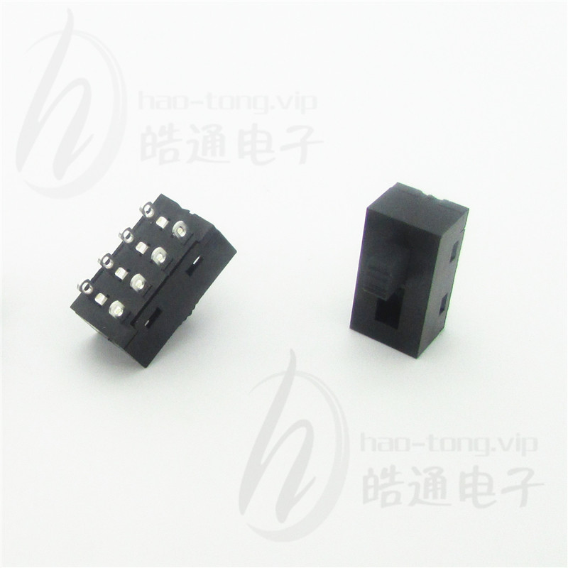 皓通haotong推荐塑胶无耳双极3位3档8孔脚H25-0323SC认证拨动开关
