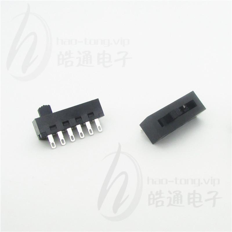 皓通电子haoswitch直销无耳单极5位5档6孔脚H25-0315SC塑胶外壳波段开关