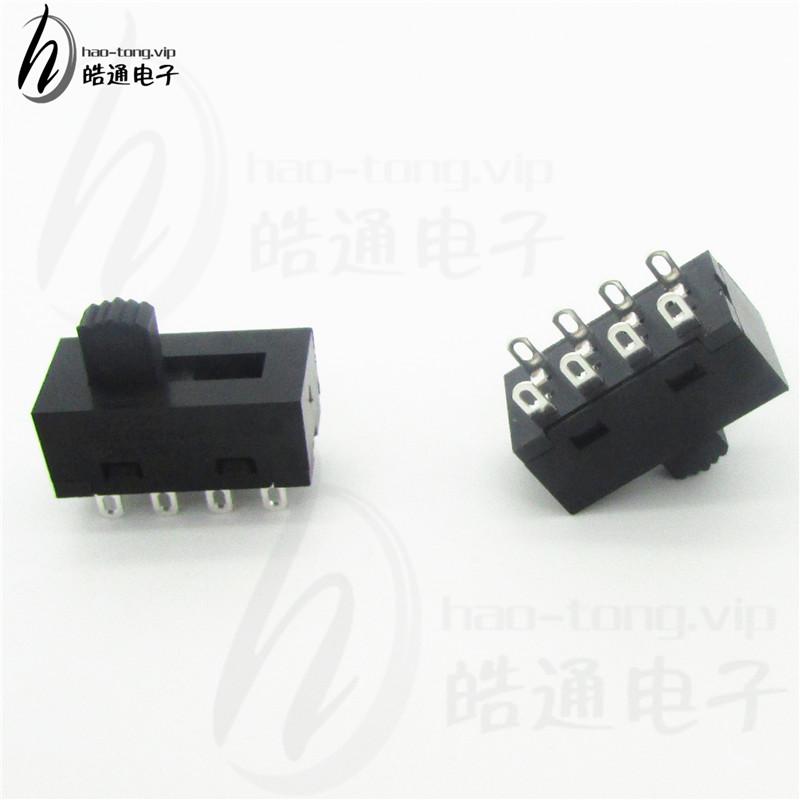 皓通haotong推荐SS23塑胶3档8孔脚H25-0323SC有认证立式拨动开关