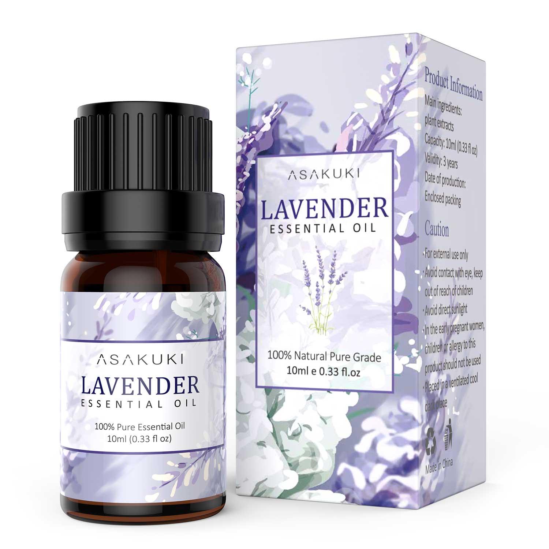 ASAKUKI Lavender Essential Oil , 100% Pure Natural Essential Oils