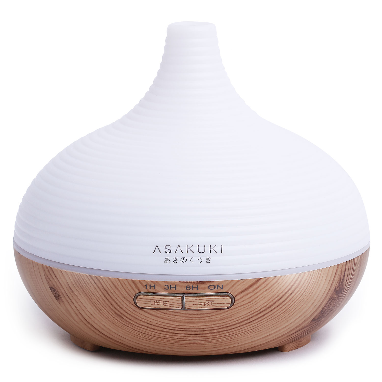 ASAKUKI 300ML Premium, Essential Oil Diffuser, Quiet 5-In-1 Humidifier, 7 LED Color Changing Light