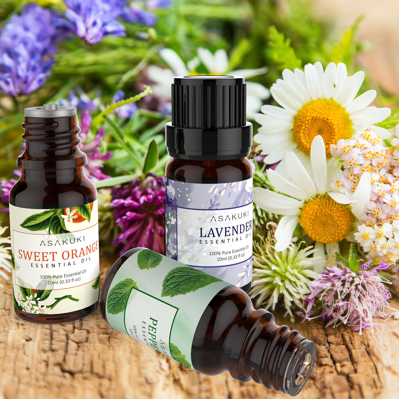 ASAKUKI Eucalyptus Essential Oil 10ml, 100% Pure Natural Essential Oils