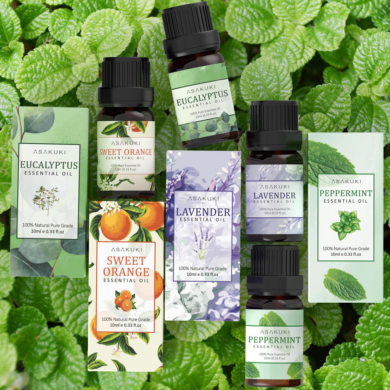 ASAKUKI Peppermint Essential Oil, 100% Pure Natural Essential Oils