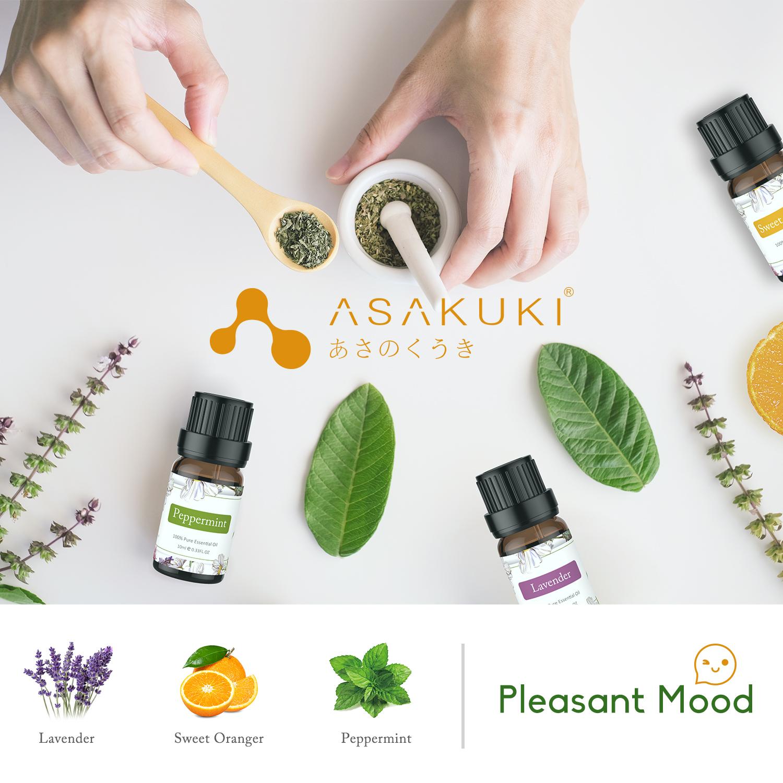 ASAKUKI Essential Oils Top 6 Gift Set, 100% Pure Therapeutic Grade Aromatherapy Oils for Diffuser