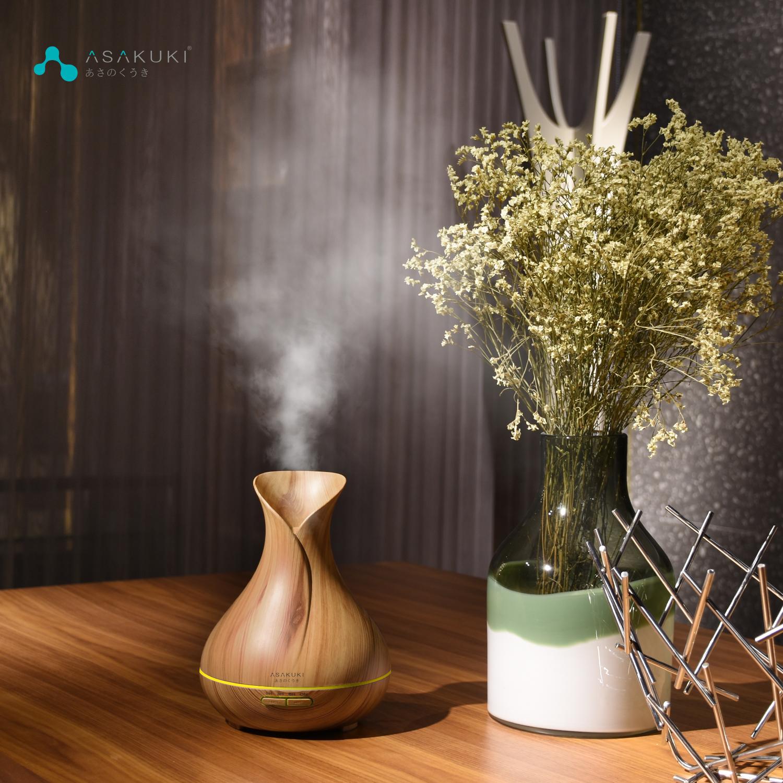 ASAKUKI 400ML Premium Essential Oil Diffuser, Quiet 5-in-1 Humidifier