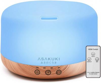 ASAKUKI 1000ML Large Remote Control Essential Oil Diffuser for Aromatherapy