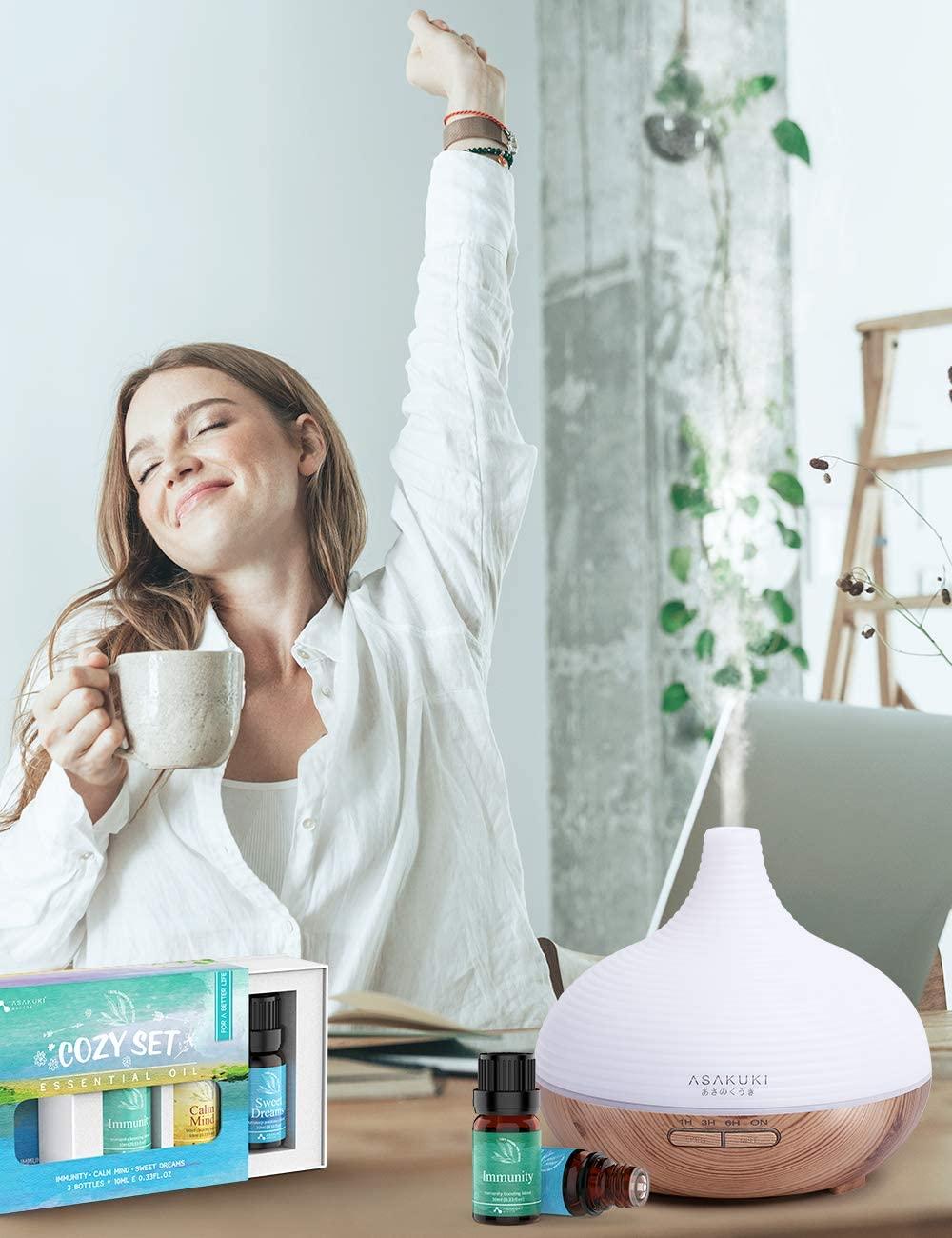 ASAKUKI Top3 Essential Oils Gift Set – 100% Pure Therapeutic Grade