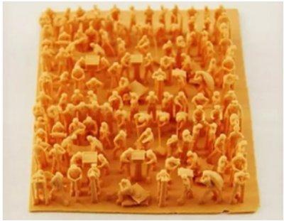红蜡高精密3D打印样品