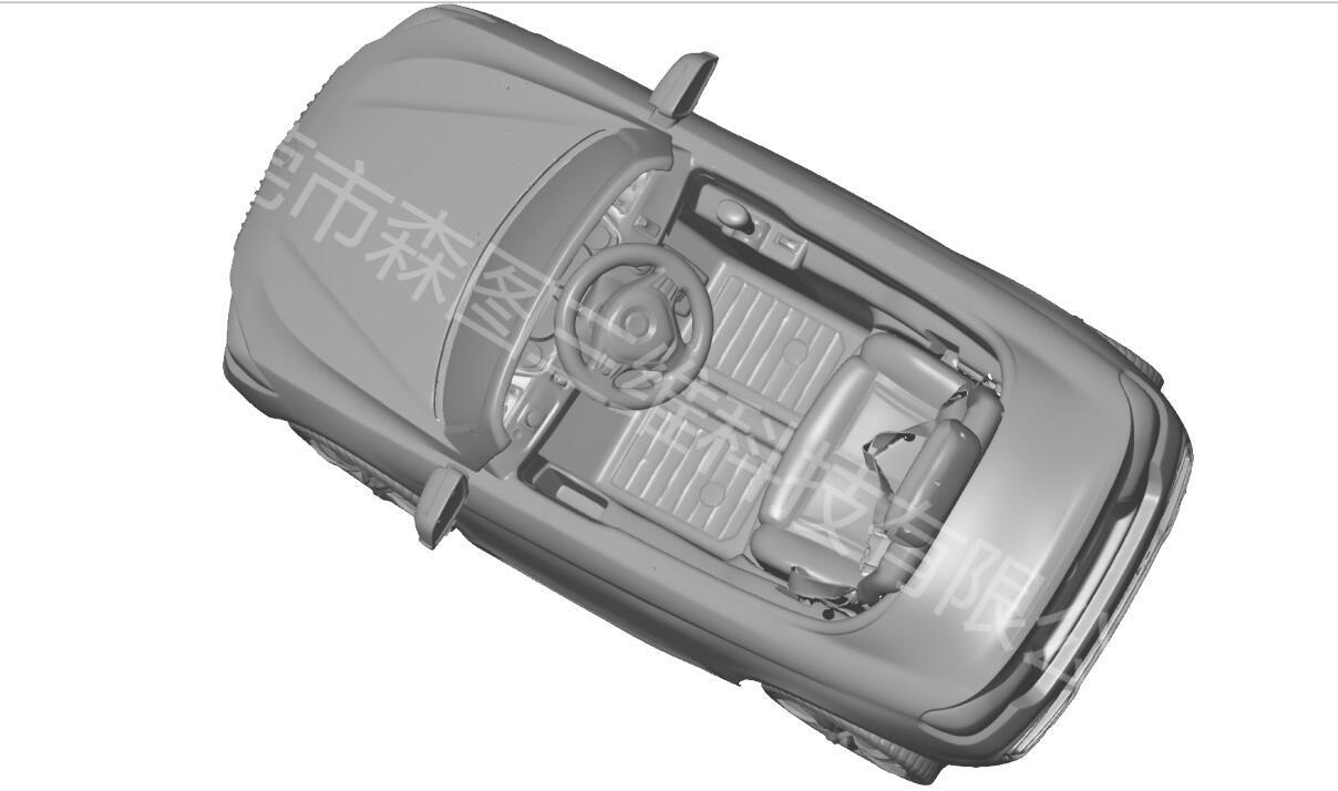 东莞宝马汽车玩具蓝光手持扫描3D案例