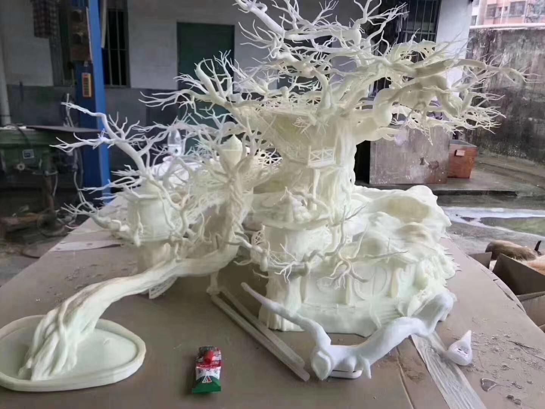 工业级SLA打印3D建筑模型之动漫上色喷油效果