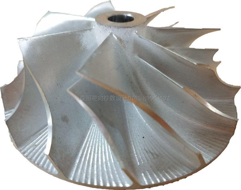 利用ATOS扫描来完成叶轮产品的高精密扫描STL数据来进行3D设计建模