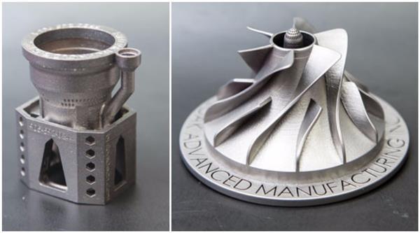 金属叶轮制品3D打印模型