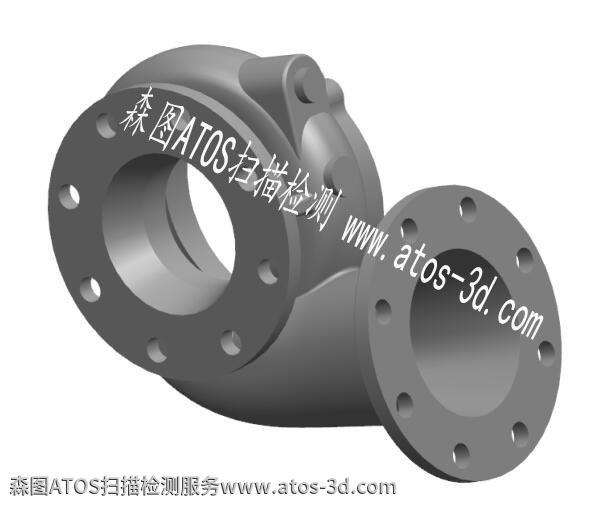 水泵产品利用ATOS高精密扫描GOM软件进行3D逆向建模