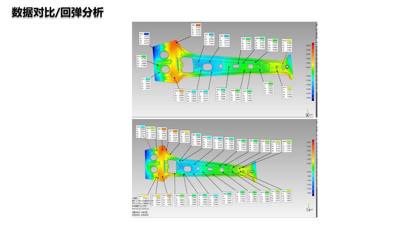 利用手持蓝光扫描3D数据 进行钣金扫描(回弹分析)