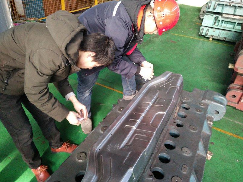 客户是江苏宝锐汽车配件厂,应用是扫描模具,和3D零件,分析数据。