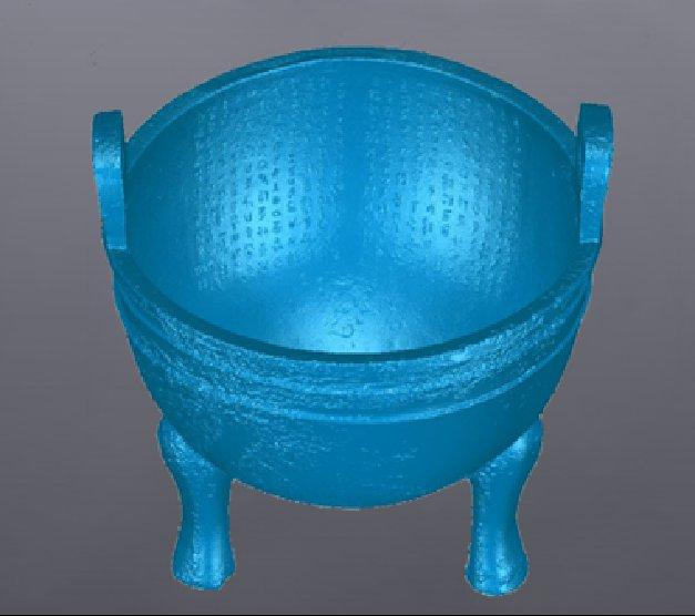 陕西历史博物馆-山西文博会现场演示手持式蓝光3D扫描仪
