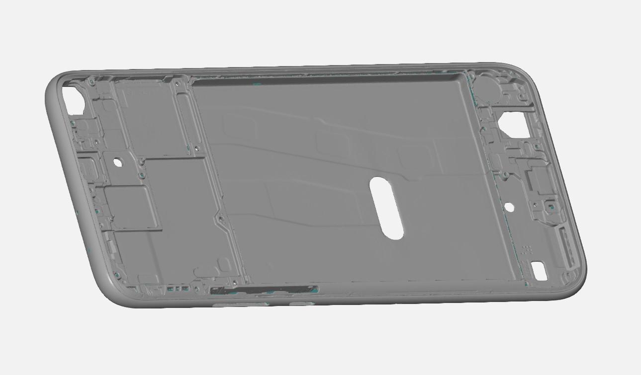 GOM公司ATOS蓝光高精密扫描手机中框 进行数据CAV对比