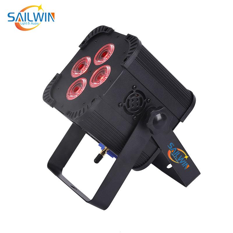 4*18W 6IN1 RGBAW UV Battery Powered Mini Uplight