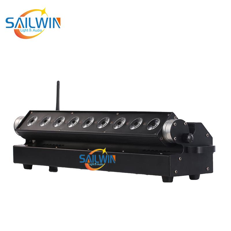 9x18W RGBAW+UV 6in1 Battery Powered Wireless LED Wall Washer