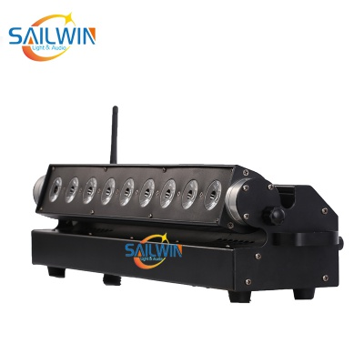 9x18W RGBAW+UV 6in1 Battery Powered Wireless LED Wall Washer
