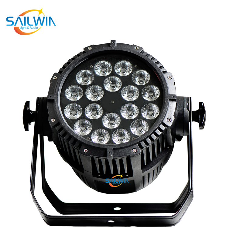 DMX512 Disco Lighting Equipment 18 x 15W RGBWA 5in1 IP65 Waterproof LED Par Light