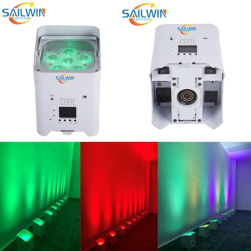 Cheap 6X18W 6in1 RGBAW UV Battery Powered Phone Control APP LED Par Light