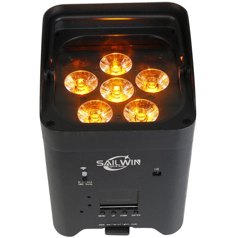 New Wedding LED UPLIGHT 6X18W RGBAW UV Battery Operated LED Stage Par Light