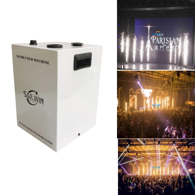 White Case 400W DMX512 Wireless Sparkular Effects Machine For Wedding Party