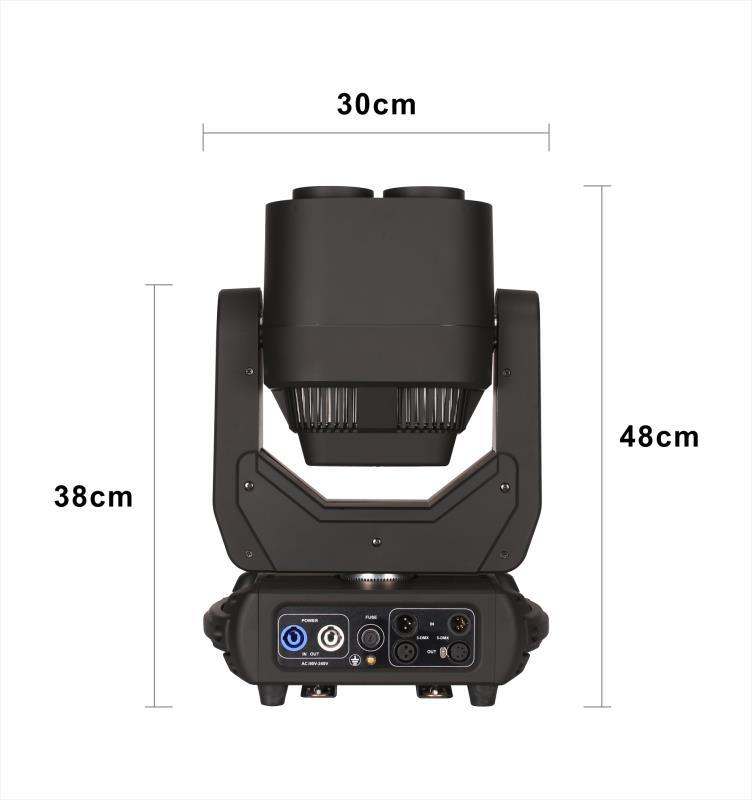 New 4X60W RGBW 4in1 ZOOM LED moving Head Beam Wash Light+64x1.5W RGB