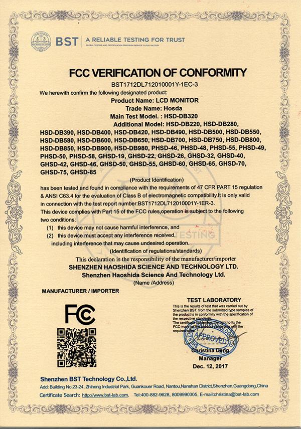 FCC--证书