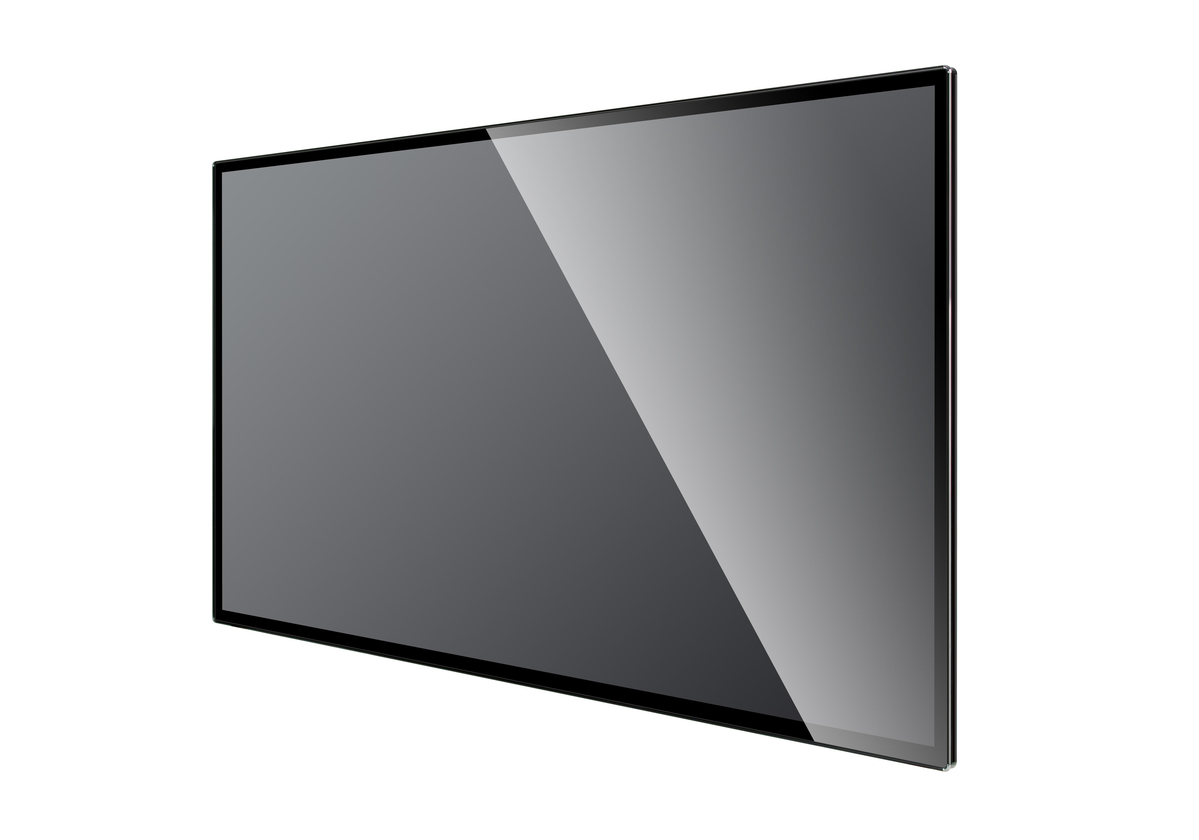 75寸壁挂广告机黑色