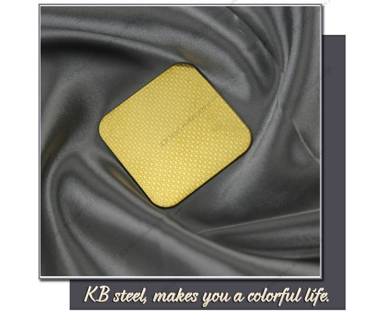 PVD Color embossed finish stainless steel sheet