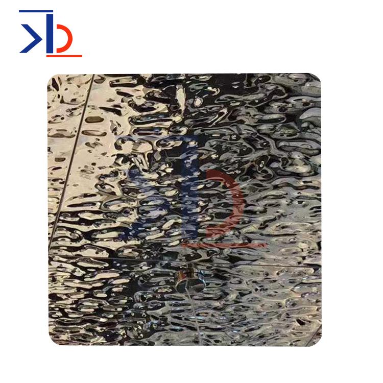 304浮雕水波纹设计图案不锈钢板制造商装饰SS不锈钢板