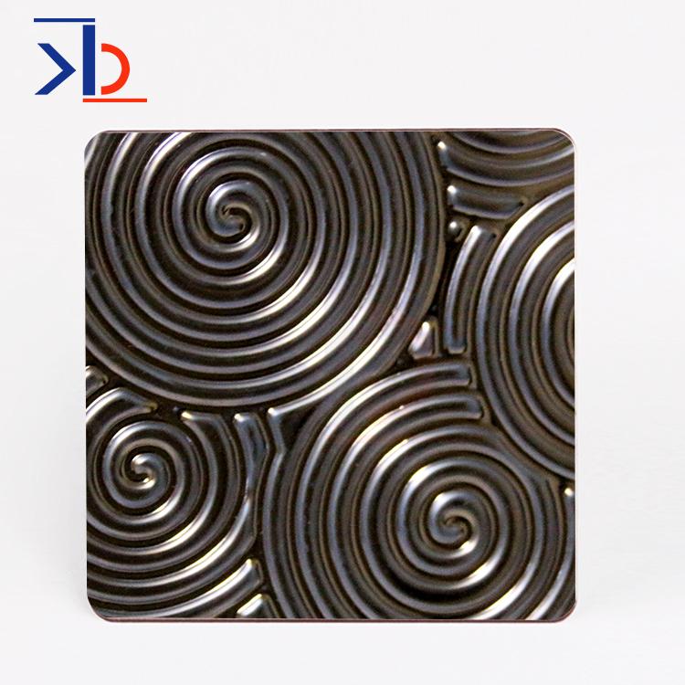 墙板彩色不锈钢板冲压十字形椭圆形3d图案不锈钢板