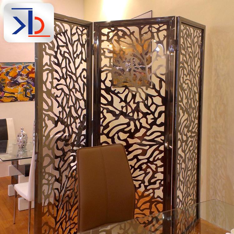 不锈钢东方金属墙饰折叠屏风隔断