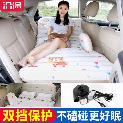 小熊护头车载/充气床垫轿车后排座通用睡垫/便携旅行床/汽车气垫床车垫床